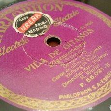 Discos de pizarra: DISCO DE GRAMÓFONO (PIZARRA). VIDA DE GITANOS (CORO DE NIÑOS DE VIENA). PARLOPHON.. Lote 78894386