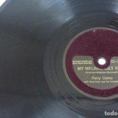 Discos de pizarra: DISCO DE PIZARRA RCA VICTOR , PERRY COMO . Lote 80753894