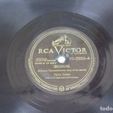 Discos de pizarra: DISCO DE PIZARRA RCA VICTOR , PERRY COMO . Lote 80817819