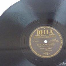 Discos de pizarra: DISCO DE PIZARRA DECCA, BING CROSBY, 1949. Lote 80826591