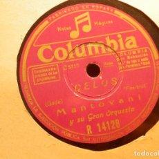 Discos de pizarra: DISCO DE PIZARRA - MANTOVANI - CELOS / LA CUMPARSITA - COLUMBIA R 14128. Lote 80978224