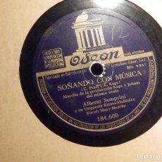 Discos de pizarra: DISCO DE PIZARRA - MARY MERCHE CON ALBERTO SEMPRINI - ARSA Y OLÉ - SOÑANDO CON MÚSICA -ODEON 184.600. Lote 80996312