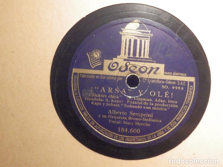 Discos de pizarra: DISCO DE PIZARRA - Mary Merche con Alberto Semprini - Arsa y Olé - Soñando con música -Odeon 184.600 - Foto 2 - 80996312