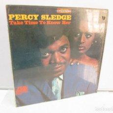 Discos de pizarra: PERCY SLEDGE. TAKE TIME TO KNOW HER. DISCO DE VINILO. ATLANTIC 1968. VER FOTOGRAFIAS ADJUNTAS. Lote 81650416