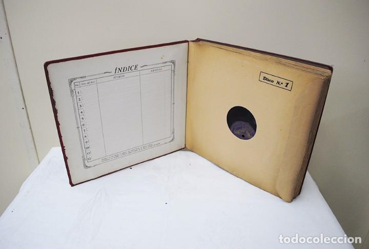 Discos de pizarra: ESTUCHE DE ONCE DISCOS DE PIZARRA ANTIGUOS - Foto 4 - 82655284