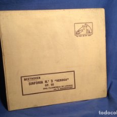 Discos de pizarra: ALBUM 6 DISCO PIZARRA BEETHOVEN SINFONIA N*3 HEROICA OP 55 ORQ FILARMÓNICA DE LONDRES. Lote 83330227