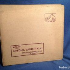 Discos de pizarra: ALBUM 4 DISCO PIZARRA MOZART SINFONIA JÚPITER N*41 ORQUESTA SINFÓNICA BBC DIR A BOULT. Lote 83330771