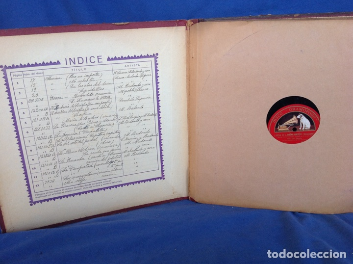 Discos de pizarra: ALBUM 12 DISCOS PIZARRA EL BARBERO DE SEVILLA MARINA LA DANZA EVA POLYDOR - Foto 2 - 83354552