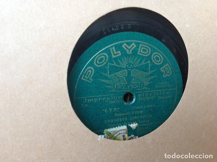 Discos de pizarra: ALBUM 12 DISCOS PIZARRA EL BARBERO DE SEVILLA MARINA LA DANZA EVA POLYDOR - Foto 15 - 83354552