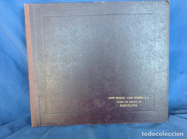ALBUM 12 DISCOS PIZARRA EL BARBERO DE SEVILLA,LA VOZ DE SU AMO REGAL COLUMBIA (Música - Discos - Pizarra - Bandas Sonoras y Actores )