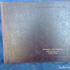 Discos de pizarra: ALBUM 12 DISCOS PIZARRA EL BARBERO DE SEVILLA,LA VOZ DE SU AMO REGAL COLUMBIA. Lote 83355352