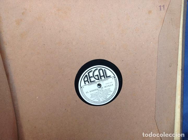 Discos de pizarra: ALBUM 12 DISCOS PIZARRA EL BARBERO DE SEVILLA,LA VOZ DE SU AMO REGAL COLUMBIA - Foto 22 - 83355352