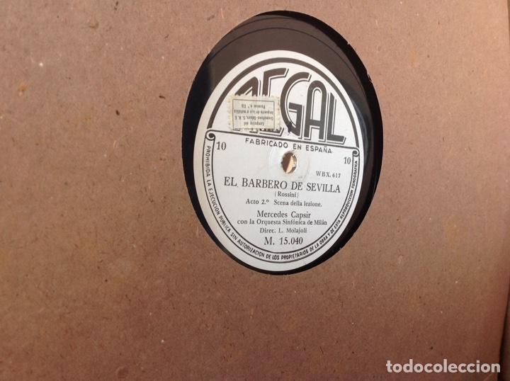 Discos de pizarra: ALBUM 12 DISCOS PIZARRA EL BARBERO DE SEVILLA,LA VOZ DE SU AMO REGAL COLUMBIA - Foto 23 - 83355352