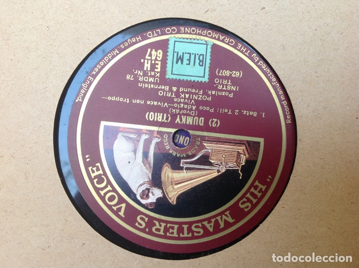 Discos de pizarra: ALBUM 11 DISCOS DUMKY TRÍO HIS MASTERS VOICE LA VOZ DE SU AMO - Foto 21 - 83366004