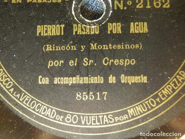 Discos de pizarra: Disco Pizarra - Pierrot pasado por Agua y El Bastonero de Covarrubias - Sr. Crespo Disco Pathe 85518 - Foto 2 - 84890360
