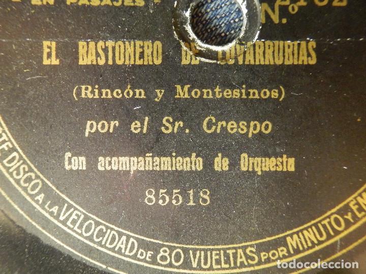 Discos de pizarra: Disco Pizarra - Pierrot pasado por Agua y El Bastonero de Covarrubias - Sr. Crespo Disco Pathe 85518 - Foto 3 - 84890360
