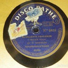 Discos de pizarra: DISCO PIZARRA - LA FIGURA DE CARMEN Y EL VALIENTE ARAGONÉS - LA TEMPRANICA - DISCO PATHE 85982. Lote 85137888