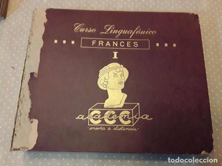 Discos de pizarra: CURSO LINGUAFONICO FRANCES I-ACADEMIA CCC- ALBUM 12 DISCO+ESTUCHE 12 CUADERNILLOS+ VERBOS - Foto 4 - 85270036