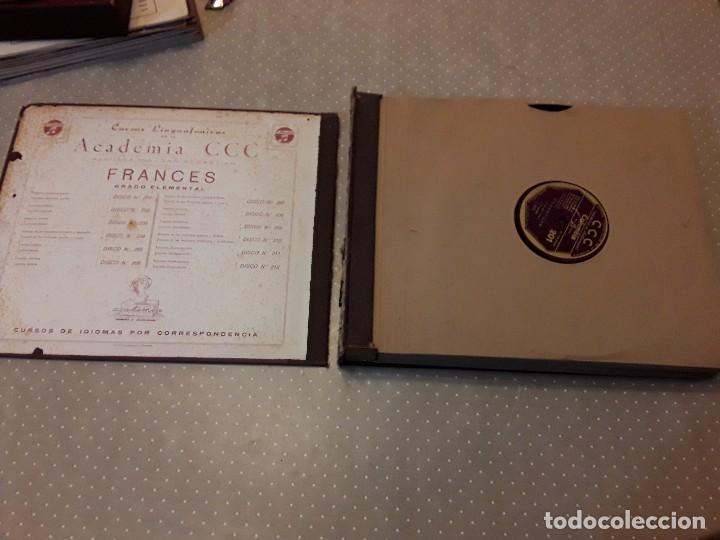 Discos de pizarra: CURSO LINGUAFONICO FRANCES I-ACADEMIA CCC- ALBUM 12 DISCO+ESTUCHE 12 CUADERNILLOS+ VERBOS - Foto 5 - 85270036