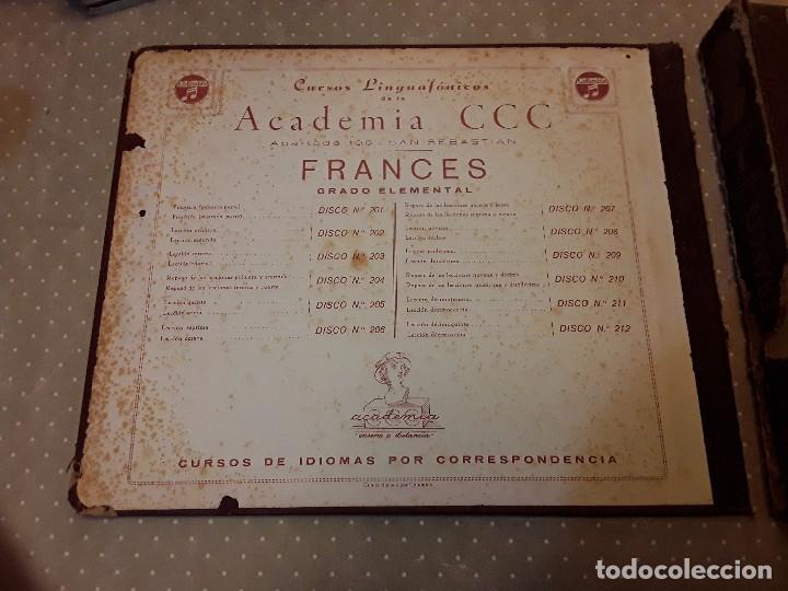 Discos de pizarra: CURSO LINGUAFONICO FRANCES I-ACADEMIA CCC- ALBUM 12 DISCO+ESTUCHE 12 CUADERNILLOS+ VERBOS - Foto 6 - 85270036