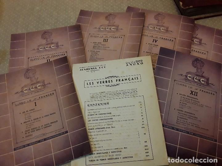 Discos de pizarra: CURSO LINGUAFONICO FRANCES I-ACADEMIA CCC- ALBUM 12 DISCO+ESTUCHE 12 CUADERNILLOS+ VERBOS - Foto 9 - 85270036