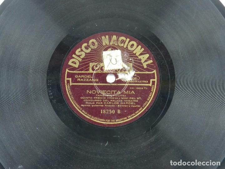 Discos de pizarra: DISCO DE PIZARRA NOVIECITA MIA / PIEDAD, POR CARLOS GARDEL, ED. ODEON. - Foto 3 - 85979244