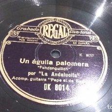 Discos de pizarra: LA ANDALUCITA DISCO DE PIZARRA. Lote 86387168