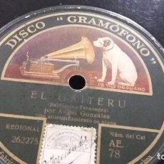 Discos de pizarra: DISCO DE PIZARRA GAITA Y CANTO ASTURIANO. Lote 86548568