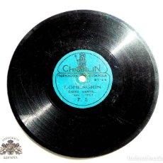 Discos de pizarra: DISCO DE PIZARRA CHIQUILIN - HUMOR Y RISA POPULAR, BARITONO, BALDASSARI - LOHENGRIN TENOR. G. NESSI. Lote 87007576