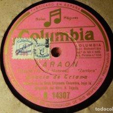 Discos de pizarra: DISCO PIZARRA GRAMÓFONO - GRACIA DE TRIANA - FARAON / PLATA Y MARFIL - COLUMBIA. Lote 87525636