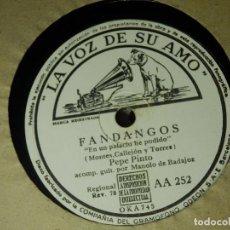 Discos de pizarra: DISCO PIZARRA GRAMÓFONO - PEPE PINTO - EN UN PALACIO HE PODIDO - MADRUGA EN SAN LORENZO -LA VOZ DE . Lote 87530240