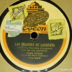 Discos de pizarra: DISCO PIZARRA GRAMÓFONO - 2 DISCOS - LAS MUJERES DE LACUESTA - SARA FERON, ANGELITA DURÁN Y OTROS. Lote 87619244