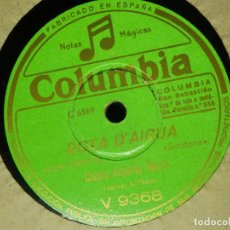 Discos de pizarra: DISCO PIZARRA GRAMÓFONO - COBLA ALBERTO MARTI - CAMPRODON - GOTA D´AIGUA - SARDANAS. Lote 87619392