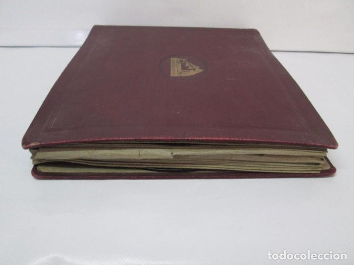 Discos de pizarra: LOTE 10 DISCOS PIZARRA 78RPM + ALBUM. LA VOZ DE SU AMO. GRAMOFONO. VER FOTOGRAFIAS ADJUNTAS - Foto 5 - 87681084