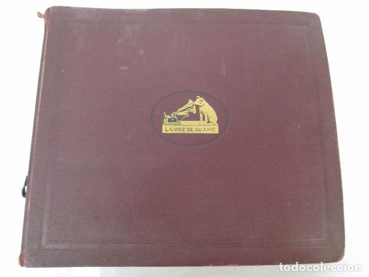 Discos de pizarra: LOTE 10 DISCOS PIZARRA 78RPM + ALBUM. LA VOZ DE SU AMO. GRAMOFONO. VER FOTOGRAFIAS ADJUNTAS - Foto 8 - 87681084
