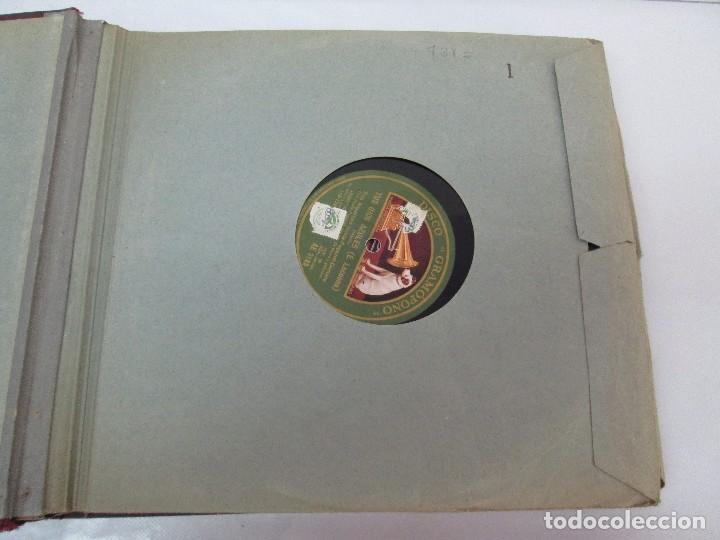 Discos de pizarra: LOTE 10 DISCOS PIZARRA 78RPM + ALBUM. LA VOZ DE SU AMO. GRAMOFONO. VER FOTOGRAFIAS ADJUNTAS - Foto 10 - 87681084
