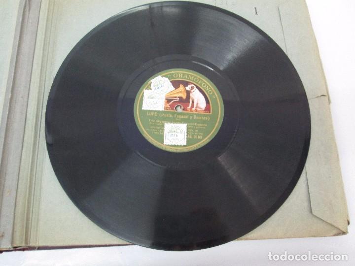 Discos de pizarra: LOTE 10 DISCOS PIZARRA 78RPM + ALBUM. LA VOZ DE SU AMO. GRAMOFONO. VER FOTOGRAFIAS ADJUNTAS - Foto 12 - 87681084
