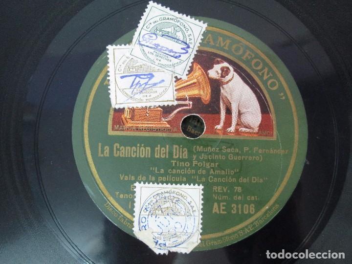 Discos de pizarra: LOTE 10 DISCOS PIZARRA 78RPM + ALBUM. LA VOZ DE SU AMO. GRAMOFONO. VER FOTOGRAFIAS ADJUNTAS - Foto 22 - 87681084