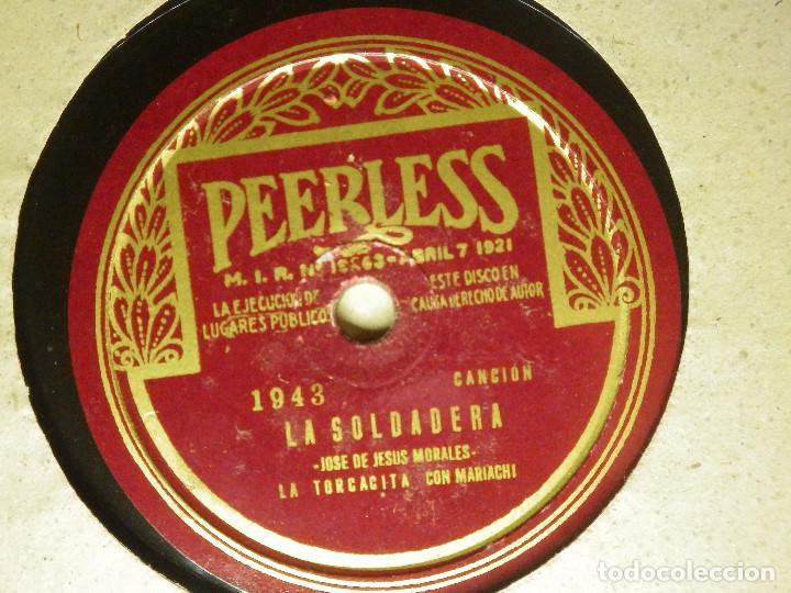 DISCO PIZARRA GRAMÓFONO -MATILDE SANCHEZ-LA TORCACITA- LA SOLDADERA Y ZARAPE NACIONAL -1943 PEERLESS (Música - Discos - Pizarra - Otros estilos)