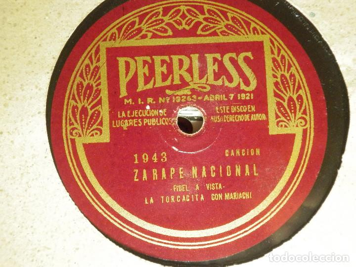 Discos de pizarra: DISCO PIZARRA GRAMÓFONO -MATILDE SANCHEZ-LA TORCACITA- LA SOLDADERA Y ZARAPE NACIONAL -1943 PEERLESS - Foto 2 - 87693796