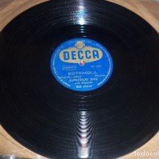 Discos de pizarra: DISCO DE PIZZARA DE EDMUNDO ROS, SOPLO SALVAJE / ESTAMBUL. EDICION DECCA. D.. Lote 87726940