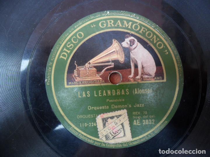 DISCO PIZARRA DE LA CASA LA VOZ DE SU AMO - LAS LEANDRAS (Música - Discos - Pizarra - Flamenco, Canción española y Cuplé)