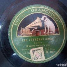 Discos de pizarra: DISCO PIZARRA DE LA CASA LA VOZ DE SU AMO - LAS LEANDRAS. Lote 88038896