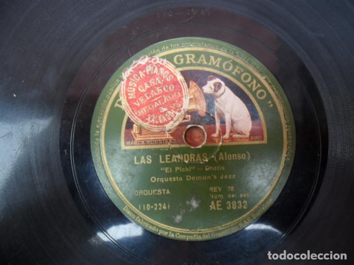 Discos de pizarra: DISCO PIZARRA DE LA CASA LA VOZ DE SU AMO - LAS LEANDRAS - Foto 2 - 88038896