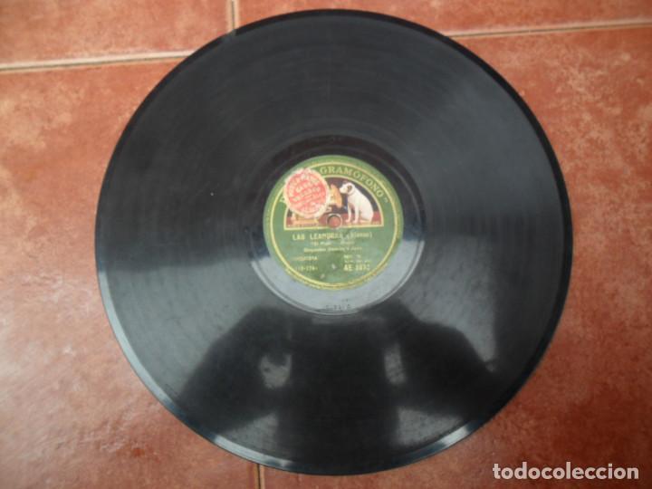 Discos de pizarra: DISCO PIZARRA DE LA CASA LA VOZ DE SU AMO - LAS LEANDRAS - Foto 3 - 88038896