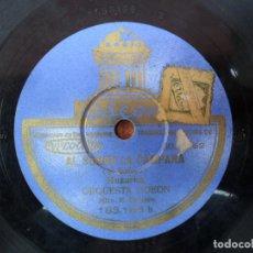 Discos de pizarra: DISCO DE PIZARRA DE LA CASA ODEON - AL SONAR LA CAMPANA - LA MULATITA - HABANERA. Lote 88149528