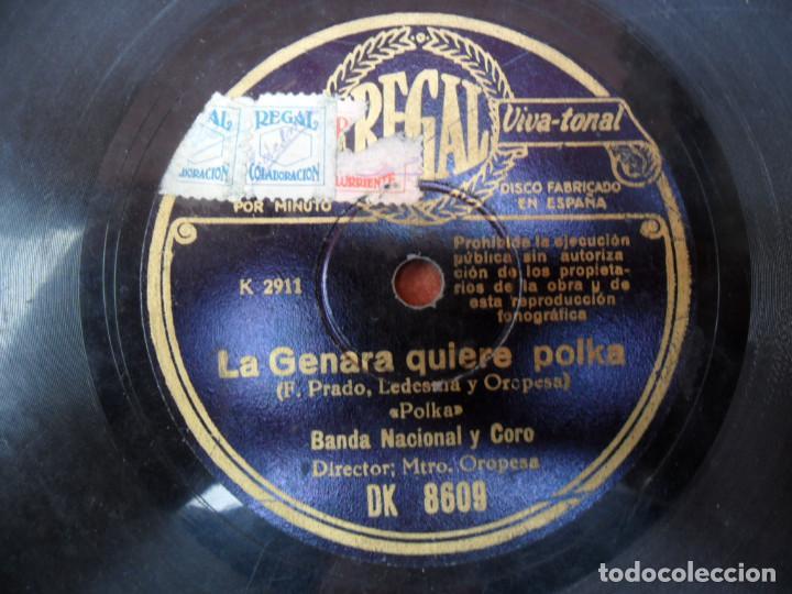 DISCO DE PIZARRA - - REGAL - LA GENARA QUIERE POLKA - JUAN ÁBREME LA HUCHA - RUMBA (Música - Discos - Pizarra - Flamenco, Canción española y Cuplé)