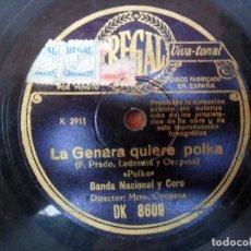Discos de pizarra: DISCO DE PIZARRA - - REGAL - LA GENARA QUIERE POLKA - JUAN ÁBREME LA HUCHA - RUMBA. Lote 88153124