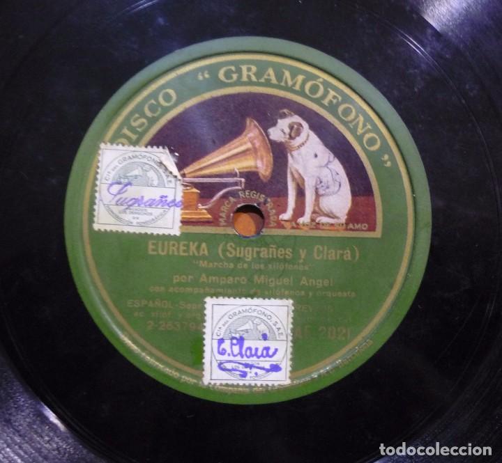 AMPARO MIGUEL ÁNGEL - EUREKA.. - PIZARRA 10'' DISCO ''GRAMÓFONO'' - AE 2021 - ESPAÑA 1929 (Música - Discos - Pizarra - Flamenco, Canción española y Cuplé)