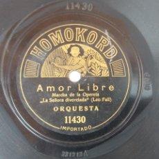 Discos de pizarra: ANTIGUO DISCO DE PIZARRA HOMOKORD 11430 11537 ORIGINAL VER DESCRIPCION. Lote 88595312